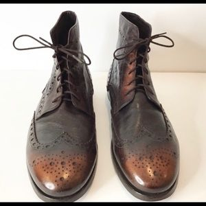 Paul Smith INCREDIBLE Ombre' Boots w/ Leather Sole